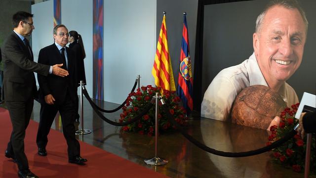 Real-voorzitter Perez prijst Cruijff bij herdenking in Camp Nou