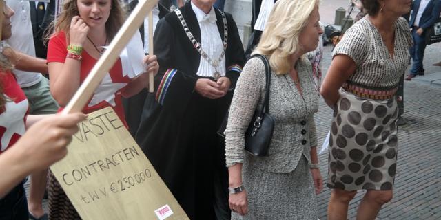 Drie protestacties bij opening academisch jaar op Domplein