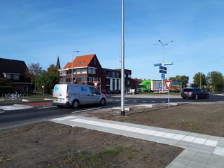 Ovale rotonde remt verkeer af