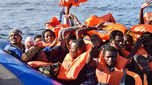Recordaantal migranten omgekomen bij oversteek Middellandse Zee in 2016