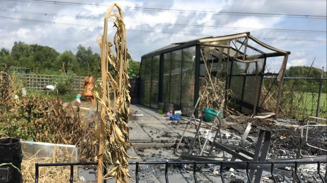 Voorzitter volkstuin Tongelre over brand tuinhuis: 'Triest om dit te zien'