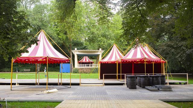 Opbouw Noorderzon Performing Arts Festival maandag van start