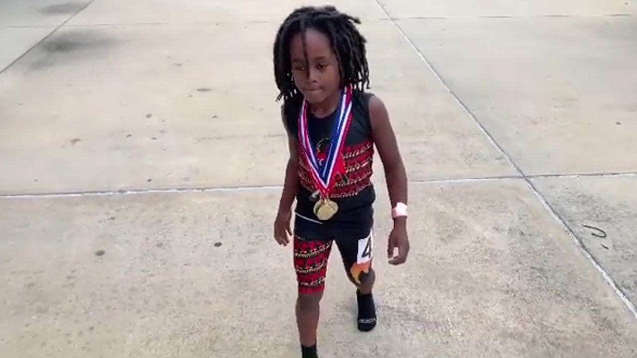 Kind loopt wereldrecord op 100 meter voor zevenjarigen in VS