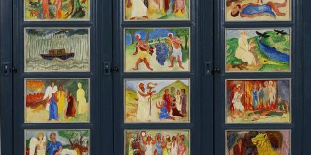 Door H.N. Werkman beschilderde kast terug in Groninger Museum