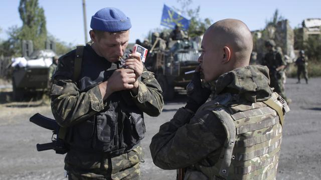 Twee Oekraïense militairen komen om bij gevechten in Oost-Oekraïne