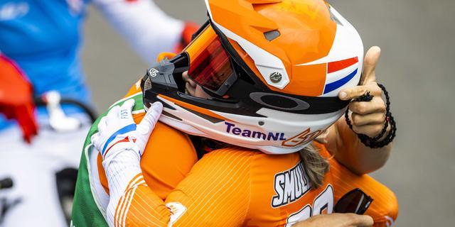 BMX'ster Merel Smulders treedt met bronzen medaille in voetsporen zus Laura