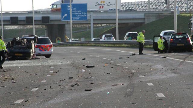 Persoon overleden bij ernstig ongeval op A2 bij Maarssen