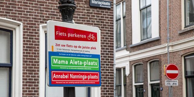 Alternatieve straatnaambordjes opgehangen in Utrecht