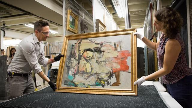 Gestolen schilderij De Kooning teruggevonden in VS