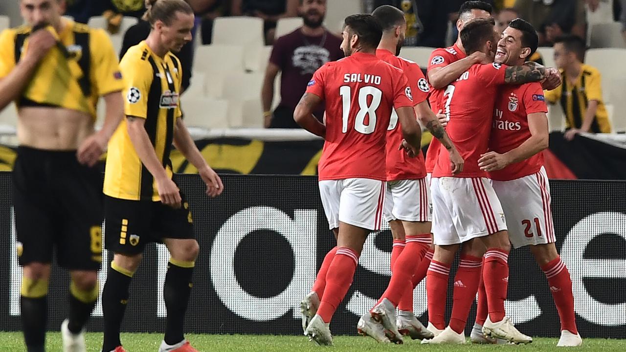 Samenvatting AEK Athene-Benfica (2-3)