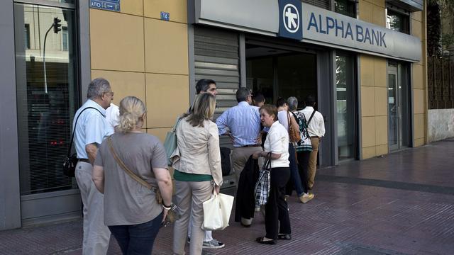 Vier grootste Griekse banken komen 14,4 miljard euro tekort