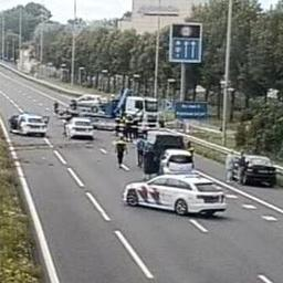 A12 van Utrecht naar Den Haag dicht bij Zoetermeer na ongeval