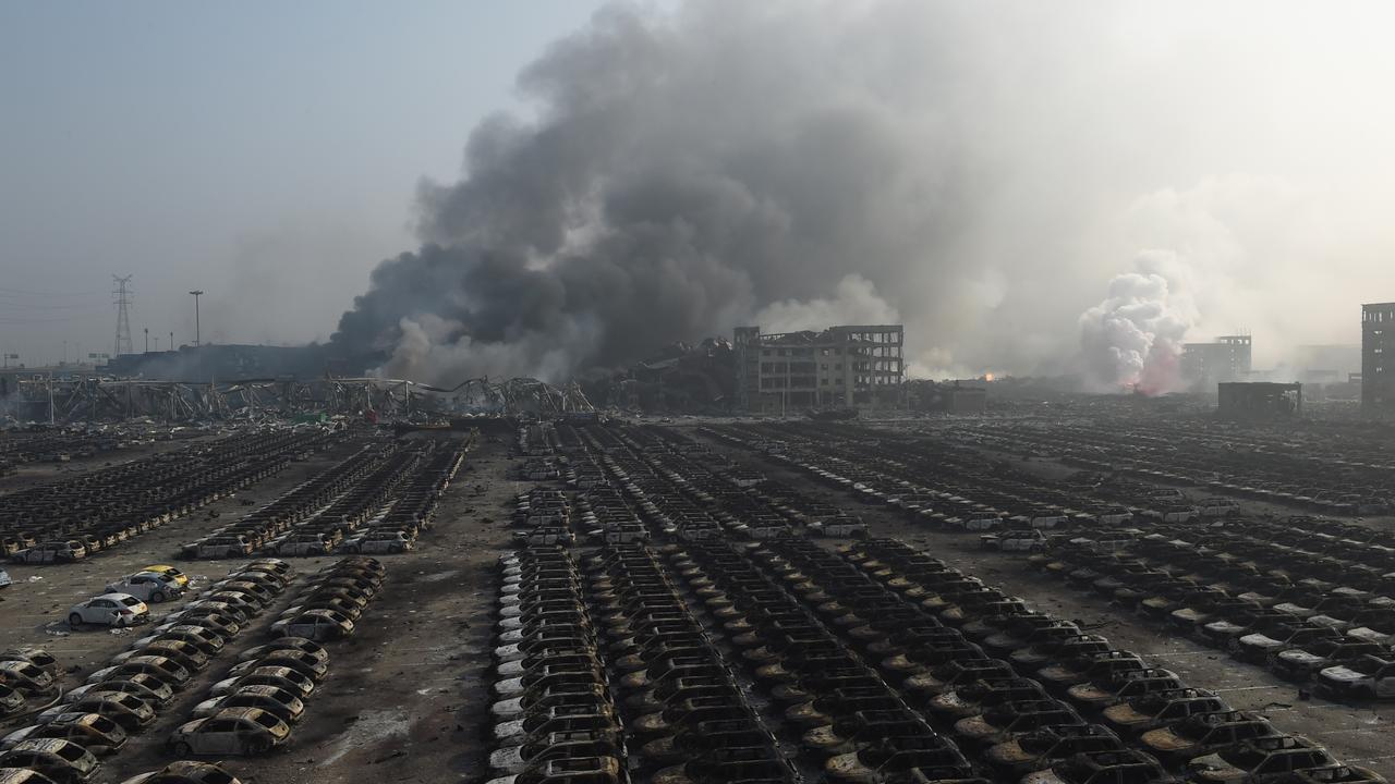 Grote explosie in Chinese stad Tianjin