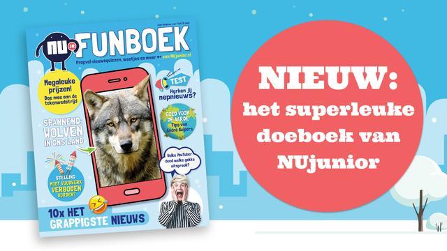 Het NUjunior Funboek: nú in de winkel!