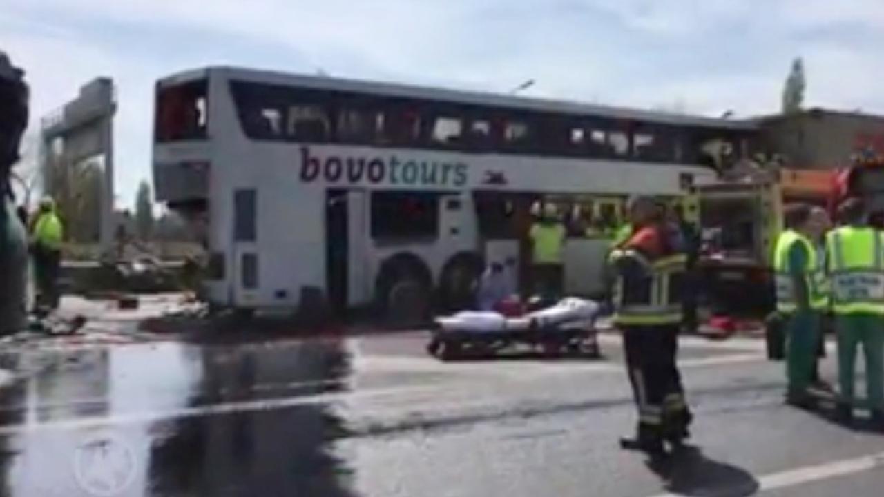 25 gewonden na ongeluk Nederlandse touringcar in België