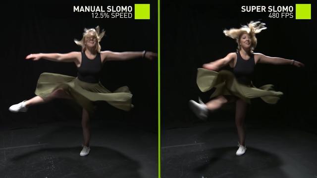 Nvidia maakt van normaal videobeeld vloeiende slow-motion
