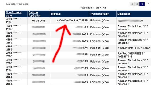 Belg krijgt 2.000 miljard euro bijgestort op rekening