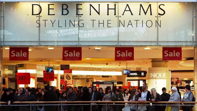 Teleurstellende kerstperiode voor warenhuisketen Debenhams