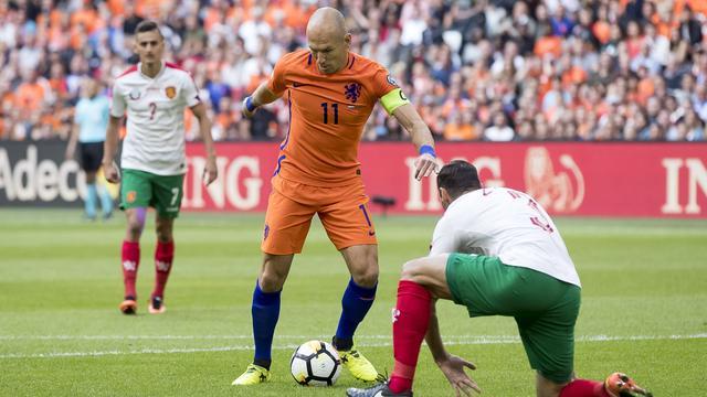Robben vond Oranje af en toe 'apathisch' spelen tegen Bulgarije