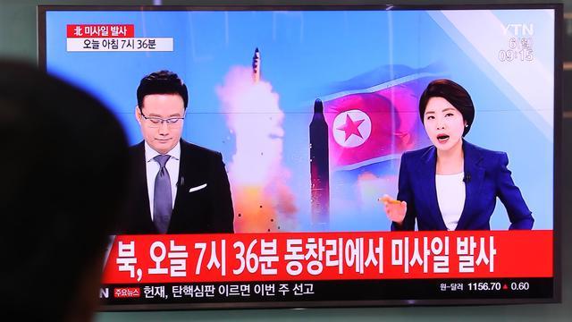 'Noord-Korea vuurt vier ballistische raketten af'
