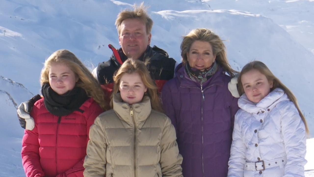 Fotografen zetten koninklijke familie op de foto in Lech