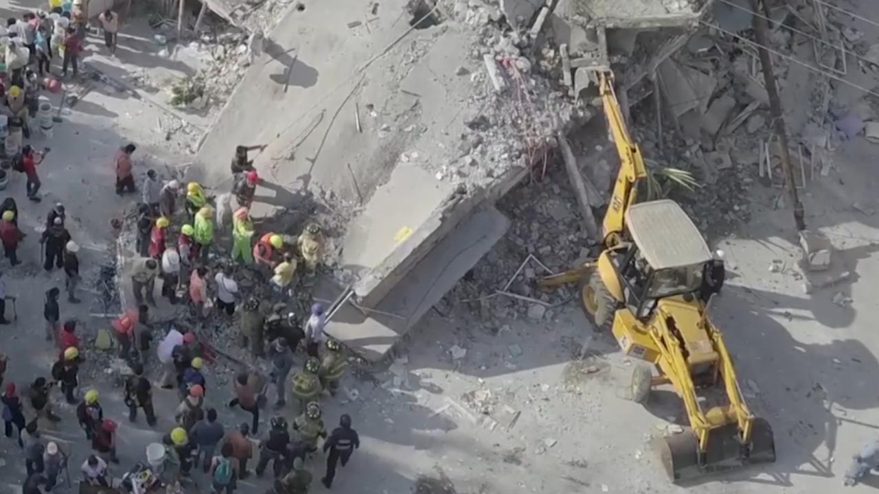Dronebeelden tonen ravage Mexico na zware aardbeving