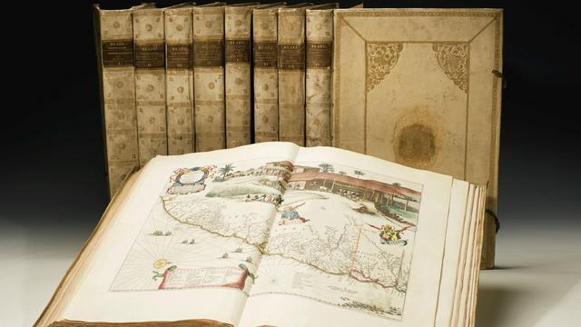 Handgetekende atlas van Amsterdamse VOC-hoofdcartograaf te koop