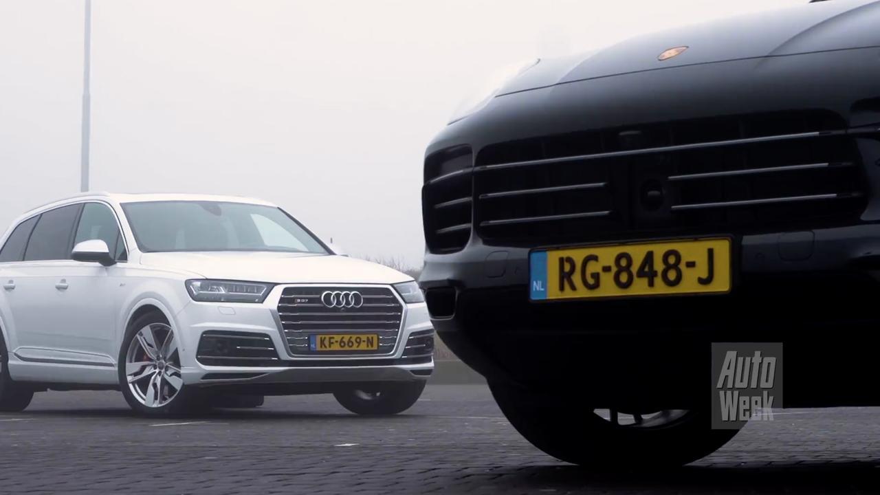 Eerste dubbeltest: Porsche Cayenne tegenover Audi SQ7
