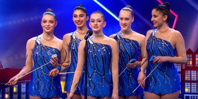 Gymnastes Wilskracht door bij Holland's Got Talent