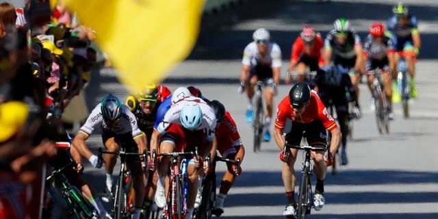 Gediskwalificeerde Sagan stelt dat hij Cavendish duwde ter verdediging