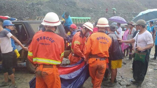 Dodental aardverschuiving in jademijn Myanmar opgelopen tot 162