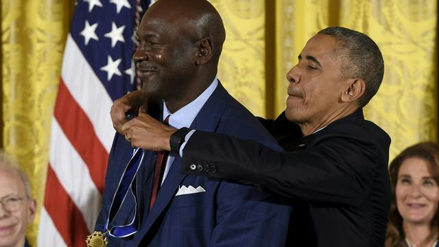 Michael Jordan krijgt hoge onderscheiding van president Obama