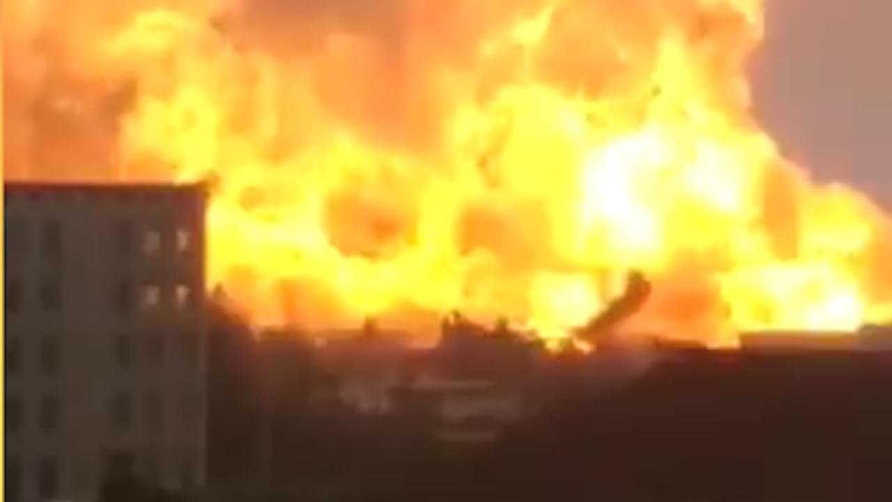 Enorme explosie in chemische fabriek in China