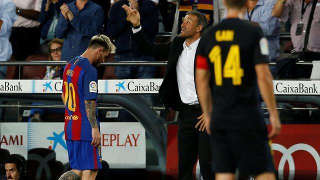 Enrique rekent ook zonder Messi op goede resultaten met Barcelona