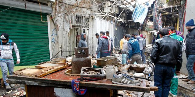 Veel doden en gewonden na explosies op markt Bagdad