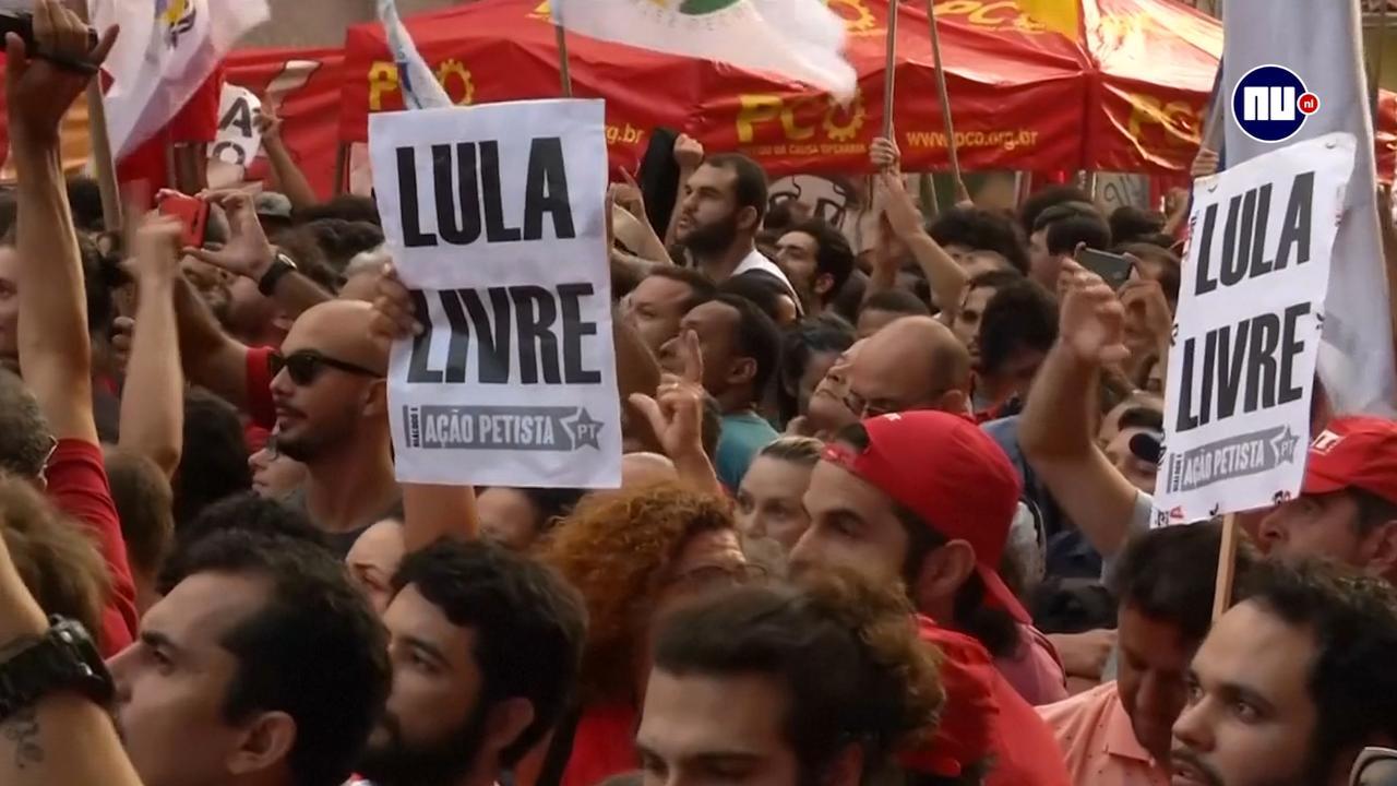 Brazilianen betuigen steun aan voormalig president Lula
