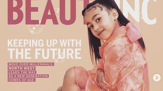 Vijfjarige dochter Kim Kardashian en Ye West op tijdschriftcover