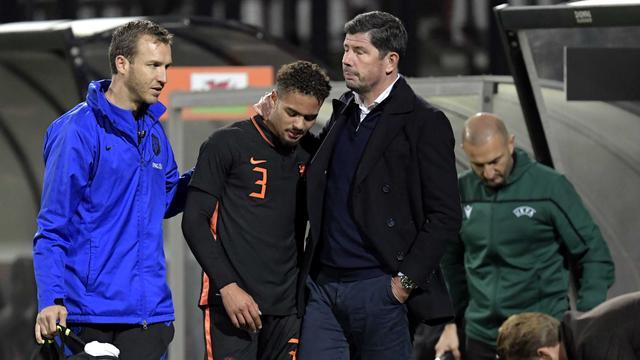 Devyne Rensch viel geblesseerd uit bij Jong Oranje, maar dat mocht de pret niet drukken.