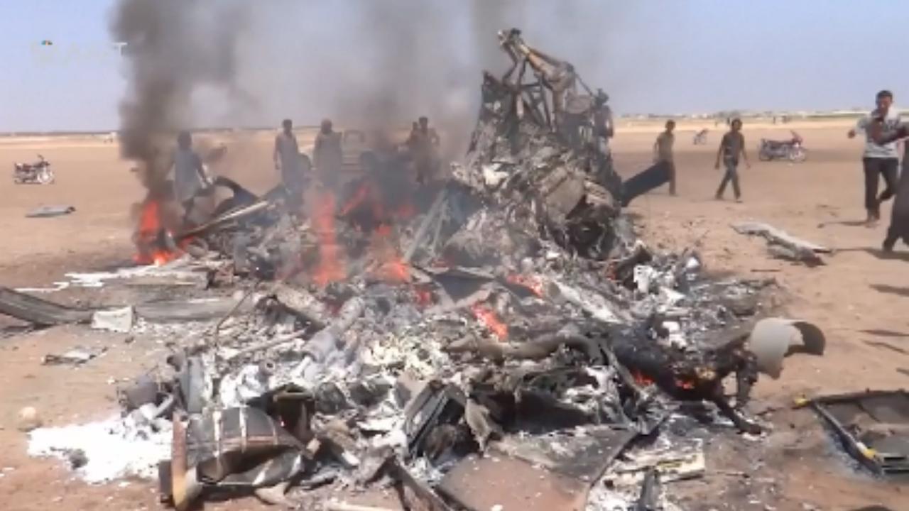 Russische helikopter neergehaald in Syrië