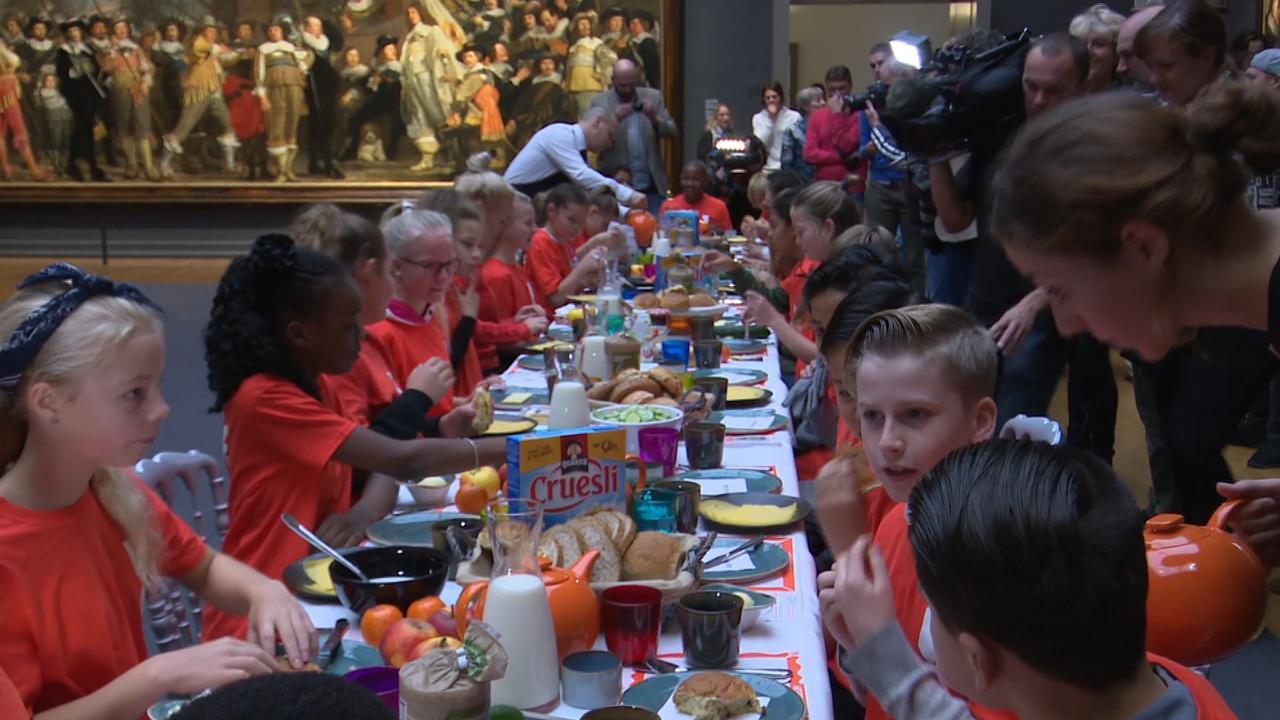 Nationale Schoolontbijt van start gegaan in Rijksmuseum