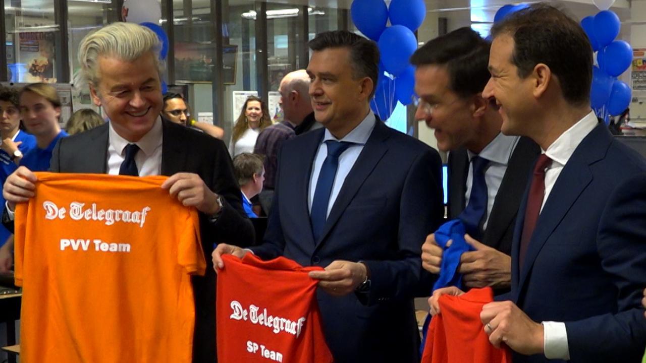 Lijsttrekkers nemen één dag Telegraaf over: 'Schokkend en kritisch'
