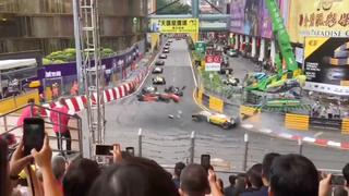 Formule 3-coureur vliegt door lucht bij heftige crash in Macau