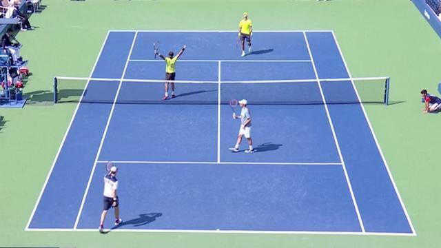 Bekijk hoe Rojer zijn derde Grand Slam-finale in het dubbelspel haalt
