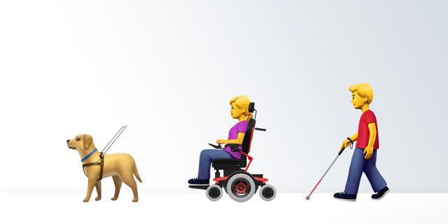 Apple dient emoji's in voor mensen met beperking