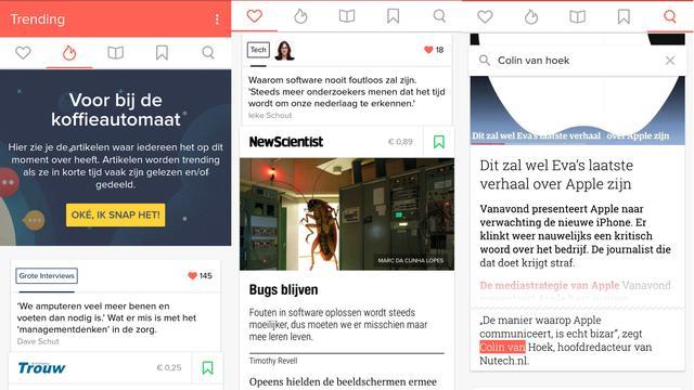 Kranten-app Blendle beschikbaar voor Android