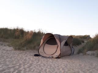 Hadden kamp opgezet in duinen aan Noorderhoofdweg