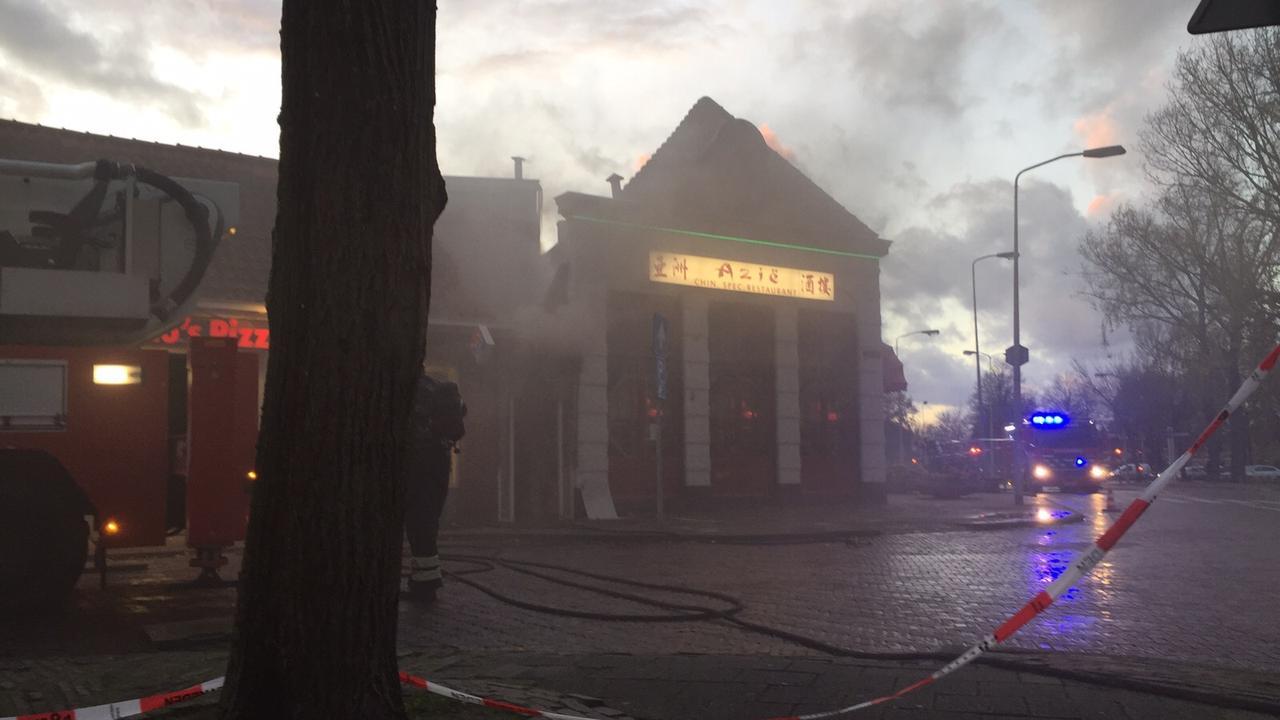 Grote brand in Chinees restaurant in Hoorn