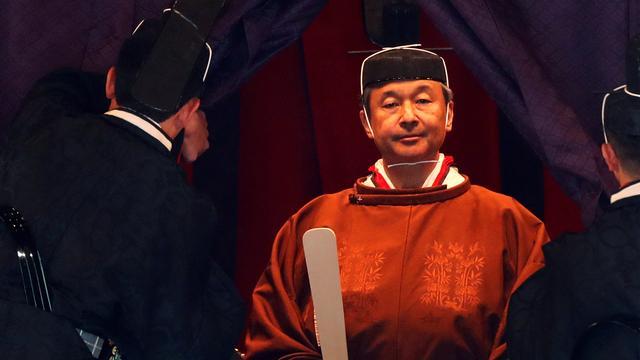 Japanse keizer Naruhito voor oog van tientallen wereldleiders ingehuldigd