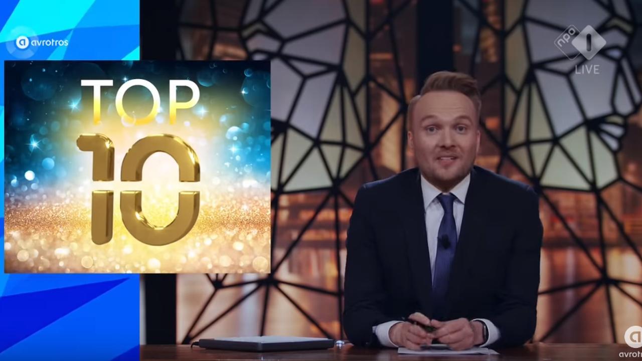 Bekijk Arjen Lubach's top 10 bij het Televiziergala