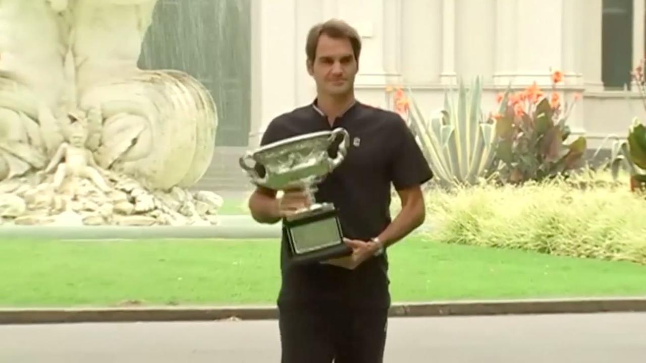 Federer: 'Nog in een overwinningsroes na titel'